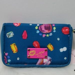 Luv Betsey by Betsey Johnson Teal Wristlet NWT